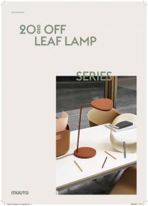Muuto Leaf Lamp 20% Korting in September