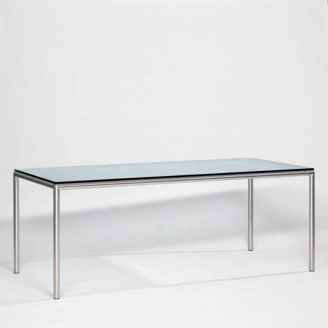 200 x 90 x 75 cm, Brute gehard glas 10 mm dik, Frame (Ø 40 mm) RVS