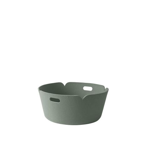 Muuto Restore Round Basket Dusty Green