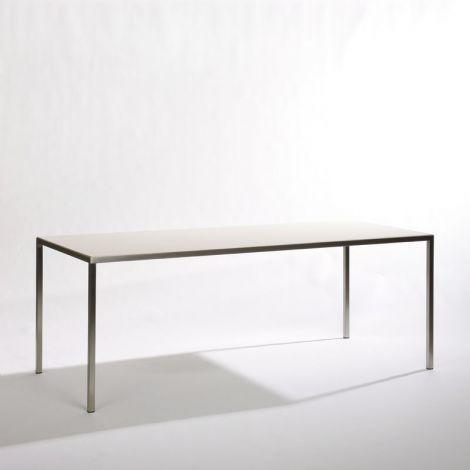 200 x 90 x 75 cm, keramiek wit, Frame RVS