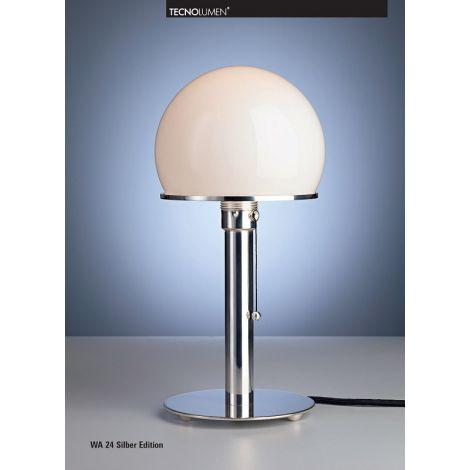 Tecnolumen Wagenfeld tafellamp WA24 Silber Edition